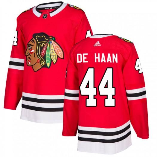 Calvin de Haan Chicago Blackhawks Men's Adidas Authentic Red Home Jersey