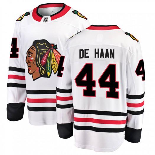 Calvin de Haan Chicago Blackhawks Men's Fanatics Branded White Breakaway Away Jersey