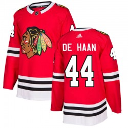 Calvin de Haan Chicago Blackhawks Youth Adidas Authentic Red Home Jersey