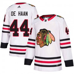 Calvin de Haan Chicago Blackhawks Youth Adidas Authentic White Away Jersey