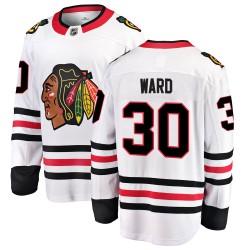 Cam Ward Chicago Blackhawks Men's Fanatics Branded White Breakaway Away Jersey