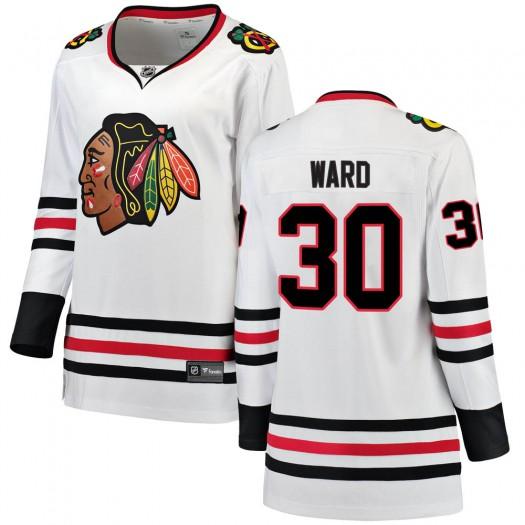 Cam Ward Chicago Blackhawks Women's Fanatics Branded White Breakaway Away Jersey