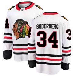 Carl Soderberg Chicago Blackhawks Men's Fanatics Branded White Breakaway Away Jersey