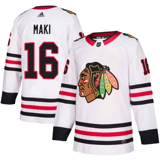 Chico Maki Chicago Blackhawks Men's Adidas Authentic White Away Jersey