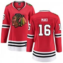 Chico Maki Chicago Blackhawks Women's Fanatics Branded Red Breakaway Home Jersey