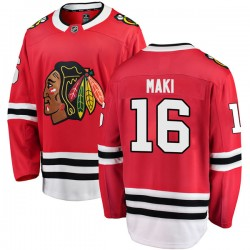 Chico Maki Chicago Blackhawks Youth Fanatics Branded Red Breakaway Home Jersey