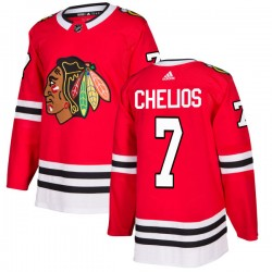 Chris Chelios Chicago Blackhawks Men's Adidas Authentic Red Jersey