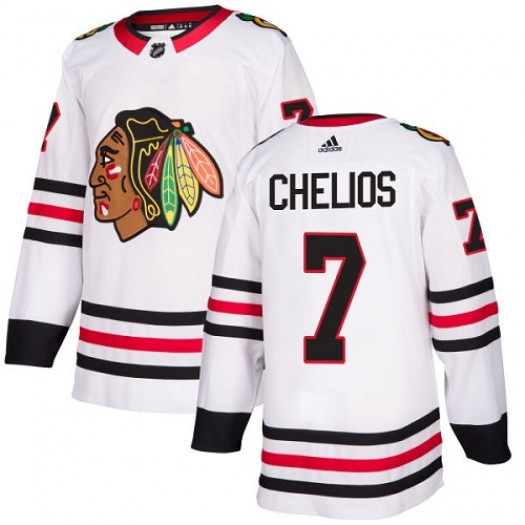 Chris Chelios Chicago Blackhawks Women's Adidas Authentic White Away Jersey