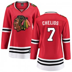 Chris Chelios Chicago Blackhawks Women's Fanatics Branded Red Home Breakaway Jersey