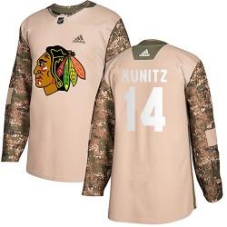 Chris Kunitz Chicago Blackhawks Men's Adidas Authentic Camo Veterans Day Practice Jersey