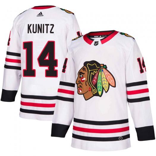 Chris Kunitz Chicago Blackhawks Men's Adidas Authentic White Away Jersey
