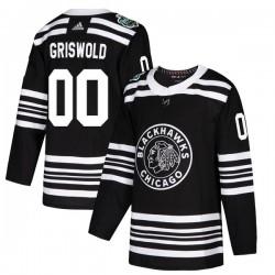 Clark Griswold Chicago Blackhawks Men's Adidas Authentic Black 2019 Winter Classic Jersey