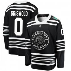 Clark Griswold Chicago Blackhawks Men's Fanatics Branded Black 2019 Winter Classic Breakaway Jersey