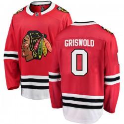 Clark Griswold Chicago Blackhawks Men's Fanatics Branded Red Breakaway Home Jersey