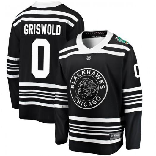 Clark Griswold Chicago Blackhawks Youth Fanatics Branded Black 2019 Winter Classic Breakaway Jersey