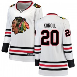 Cliff Koroll Chicago Blackhawks Women's Fanatics Branded White Breakaway Away Jersey