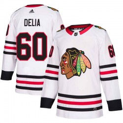 Collin Delia Chicago Blackhawks Men's Adidas Authentic White Away Jersey