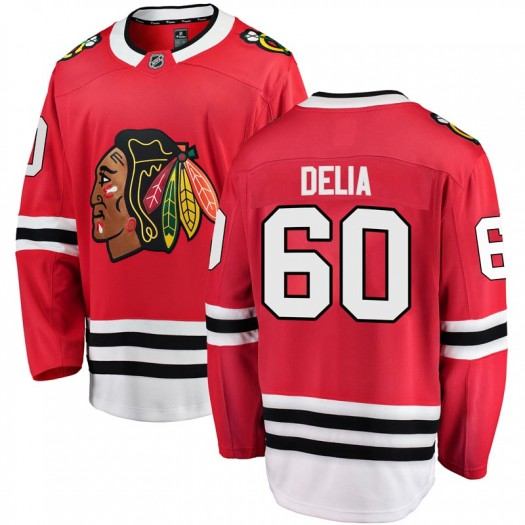 Collin Delia Chicago Blackhawks Men's Fanatics Branded Red Breakaway Home Jersey