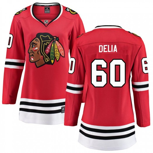 Collin Delia Chicago Blackhawks Women's Fanatics Branded Red Breakaway Home Jersey