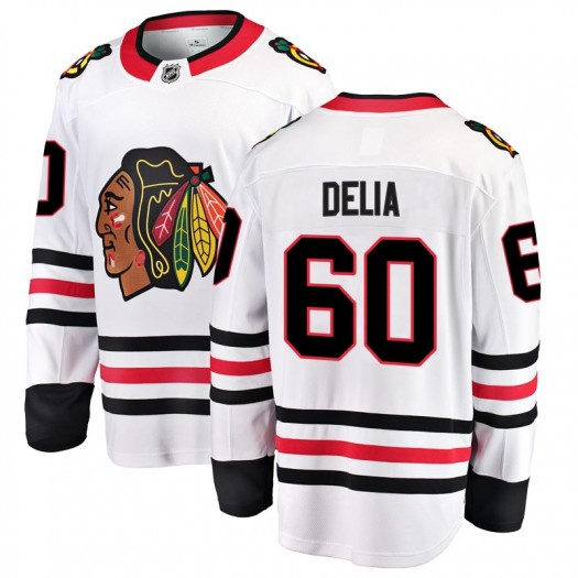 Collin Delia Chicago Blackhawks Youth Fanatics Branded White Breakaway Away Jersey