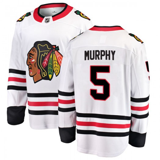 Connor Murphy Chicago Blackhawks Men's Fanatics Branded White Breakaway Away Jersey