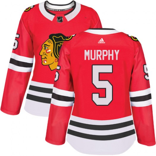 Connor Murphy Chicago Blackhawks Women's Adidas Authentic Red Home Jersey