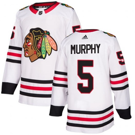 Connor Murphy Chicago Blackhawks Youth Adidas Authentic White Away Jersey