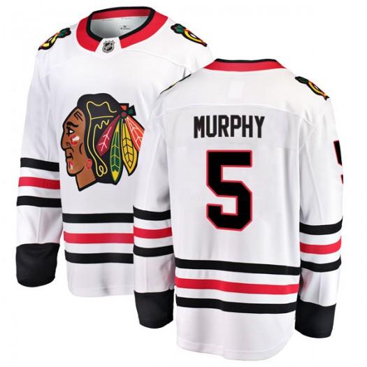 Connor Murphy Chicago Blackhawks Youth Fanatics Branded White Breakaway Away Jersey