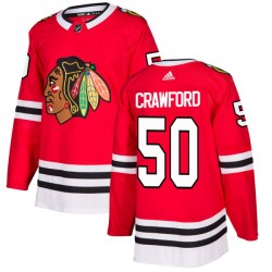 Corey Crawford Chicago Blackhawks Men's Adidas Authentic Red Jersey