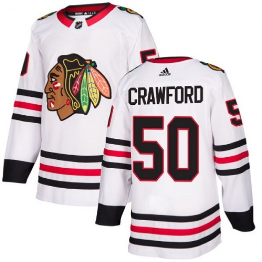 Corey Crawford Chicago Blackhawks Women's Adidas Authentic White Away Jersey