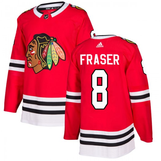 Curt Fraser Chicago Blackhawks Men's Adidas Authentic Red Home Jersey