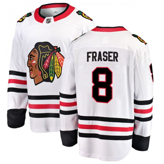 Curt Fraser Chicago Blackhawks Men's Fanatics Branded White Breakaway Away Jersey