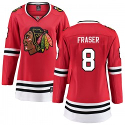 Curt Fraser Chicago Blackhawks Women's Fanatics Branded Red Breakaway Home Jersey