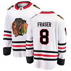 Curt Fraser Chicago Blackhawks Youth Fanatics Branded White Breakaway Away Jersey
