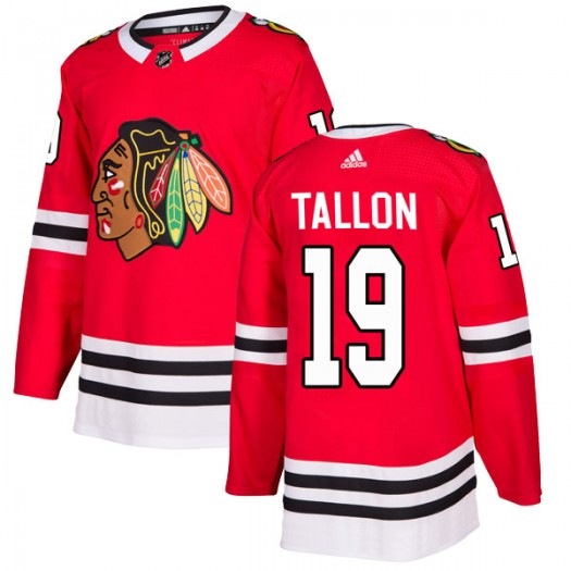 Dale Tallon Chicago Blackhawks Men's Adidas Authentic Red Home Jersey