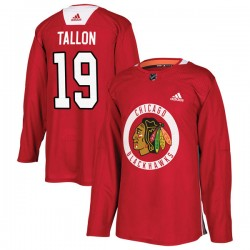 Dale Tallon Chicago Blackhawks Youth Adidas Authentic Red Home Practice Jersey