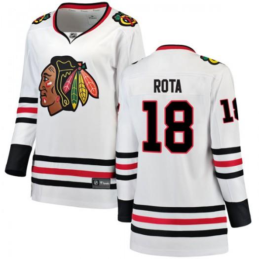 Darcy Rota Chicago Blackhawks Women's Fanatics Branded White Breakaway Away Jersey