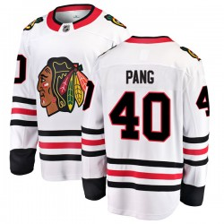 Darren Pang Chicago Blackhawks Men's Fanatics Branded White Breakaway Away Jersey