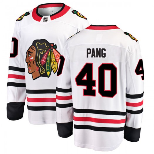 Darren Pang Chicago Blackhawks Youth Fanatics Branded White Breakaway Away Jersey