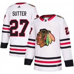 Darryl Sutter Chicago Blackhawks Men's Adidas Authentic White Away Jersey
