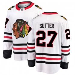 Darryl Sutter Chicago Blackhawks Men's Fanatics Branded White Breakaway Away Jersey