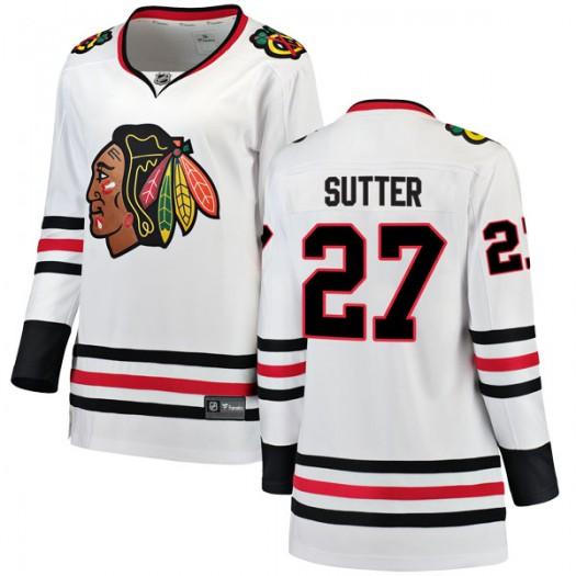 Darryl Sutter Chicago Blackhawks Women's Fanatics Branded White Breakaway Away Jersey