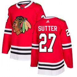 Darryl Sutter Chicago Blackhawks Youth Adidas Authentic Red Home Jersey