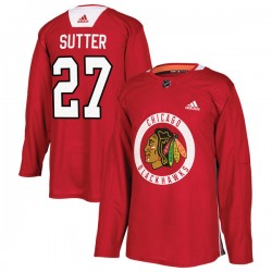 Darryl Sutter Chicago Blackhawks Youth Adidas Authentic Red Home Practice Jersey