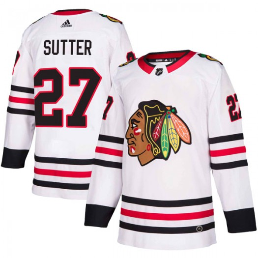 Darryl Sutter Chicago Blackhawks Youth Adidas Authentic White Away Jersey