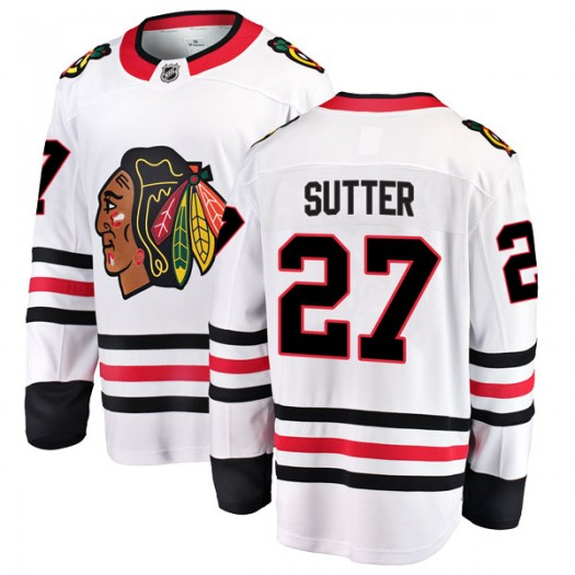 Darryl Sutter Chicago Blackhawks Youth Fanatics Branded White Breakaway Away Jersey