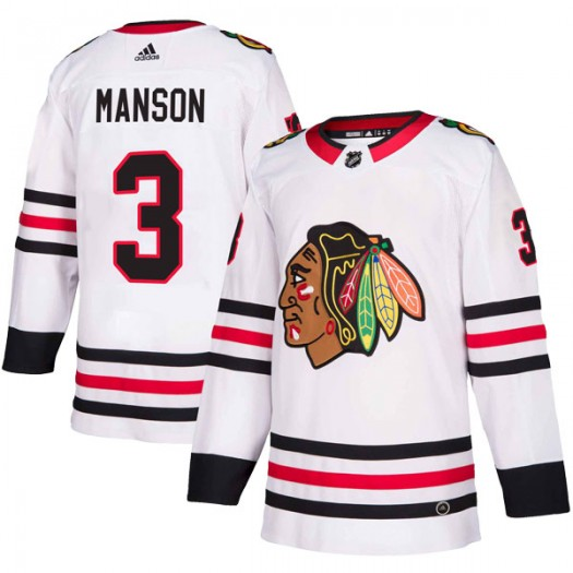 Dave Manson Chicago Blackhawks Men's Adidas Authentic White Away Jersey