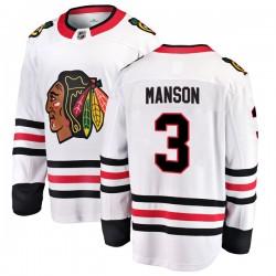 Dave Manson Chicago Blackhawks Men's Fanatics Branded White Breakaway Away Jersey