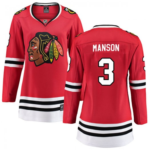 Dave Manson Chicago Blackhawks Women's Fanatics Branded Red Breakaway Home Jersey