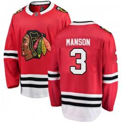 Dave Manson Chicago Blackhawks Youth Fanatics Branded Red Breakaway Home Jersey